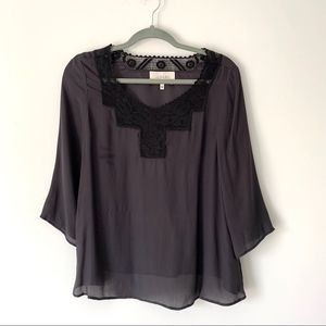The Great Lace Silk Blouse size 1/small